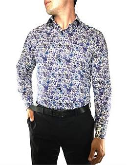 Nigel Lincoln Floral Print Slim Fit Shirt