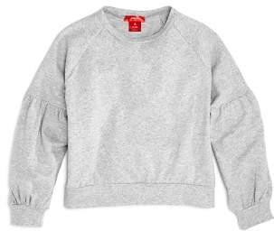 Aqua Girls' Puff-Sleeve Terry Sweater, Big Kid - 100% Exclusive