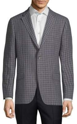Hickey Freeman Check Linen Blazer