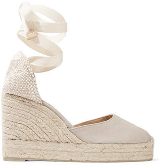 Castaner Carina 80 Canvas Wedge Espadrilles - Gray