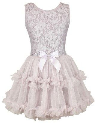 Girl's Popatu Lace & Tulle Sleeveless Dress $44 thestylecure.com