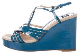 Dolce & Gabbana Slingback Platform Wedges