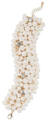 Kenneth Jay Lane Gold-Tone Faux Pearl And Crystal Bracelet