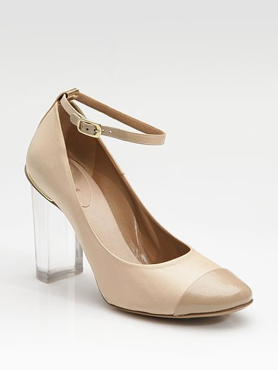 Chloe Patent Leather Toe Pumps