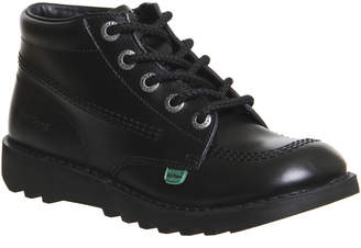19235b5f7abecb Kickers Kick Hi Junior Black Leather