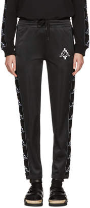 Marcelo Burlon County of Milan Black and White Kappa Editin Tape Track Pants