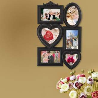 Winston Porter Compton Decorative Hearts and Oval Wall Hanging Collage Picture Frame