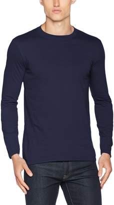 fab8a4993dab Gildan Mens Plain Crew Neck Ultra Cotton Long Sleeve T-Shirt