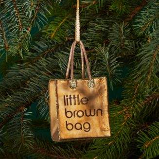 Bloomingdale's Joy to the World Little Brown Bag Glass Ornament - 100% Exclusive