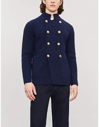 Brunello Cucinelli High-neck wool-blend cardigan