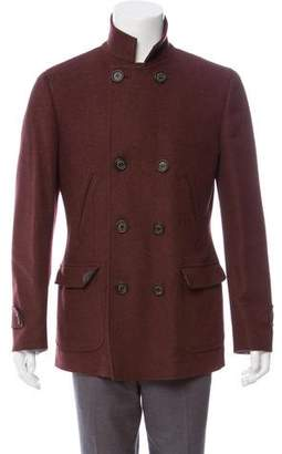 Brunello Cucinelli Wool Double-Breasted Peacoat w/ Tags