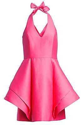 Halston Women's Halterneck Fit-&-Flare Cocktail Dress