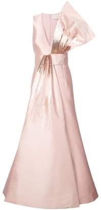 Sachin + Babi Blanche sequin embellished mermaid gown