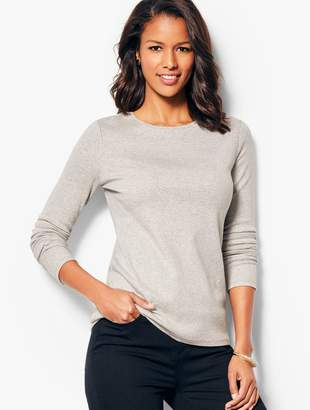 Talbots Long-Sleeve Crewneck Tee - Heathered