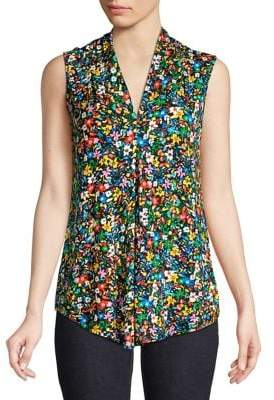 Cable & Gauge Sleeveless Printed Top