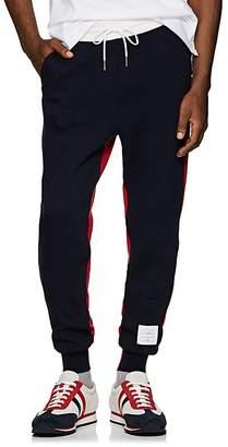 Thom Browne Men's Colorblocked Cashmere-Cotton Sweatpants