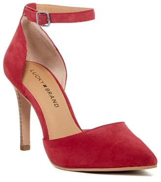 Lucky Brand Tukko d'Orsay Ankle Strap Pump