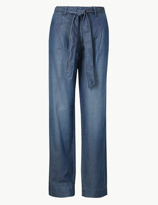 Marks and Spencer Mid Rise Wide Leg Jeans