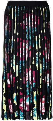 Kenzo pleated floral skirt