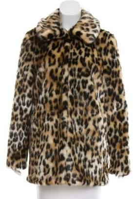 Pinko Printed Faux Fur Jacket