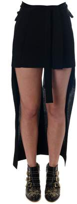 Chloé Asymmetric Black Fiber Milk Skirt