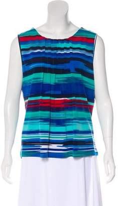 Calvin Klein Stripe Print Sleeveless Blouse