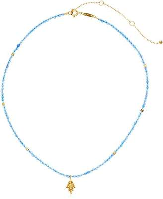 Satya Jewelry Onyx Gold Plated Lotus Choker Necklace