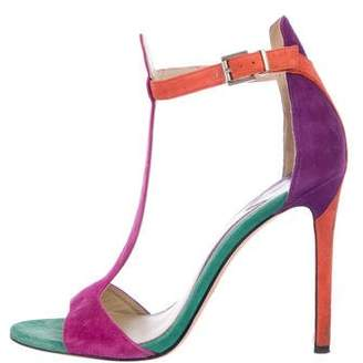 Brian Atwood Suede High-Heel Sandals