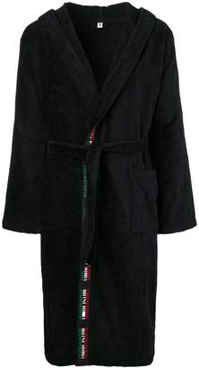 Moschino belted robe coat