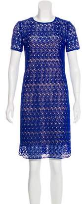 Akris Punto Macramé Knee-Length Dress