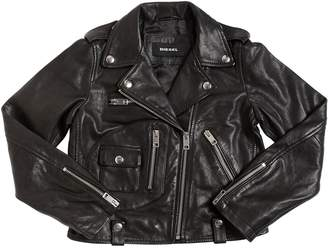 Diesel Nappa Leather Biker Jacket