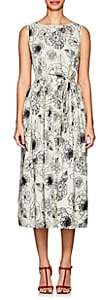 Co Women's Floral-Embroidered Cotton Sleeveless Dress-Ivorybone