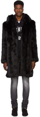 Faith Connexion Black Faux-Fur Coat