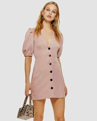 Topshop Button-Down Mini Dress