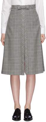 Thom Browne Bow split front houndstooth check plaid skirt