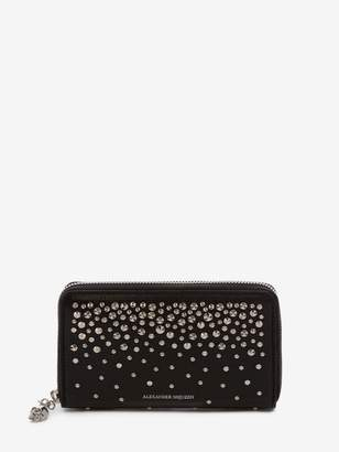 Alexander McQueen Medium Zip Around Continental Wallet