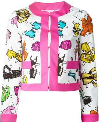 Moschino doll accessories print jacket