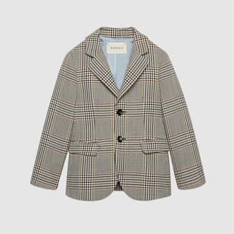 Gucci Children's retro check wool jacket
