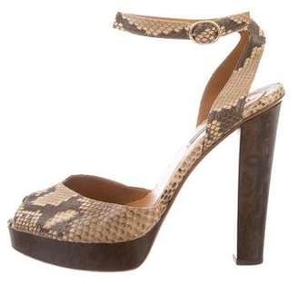 Ralph Lauren Python Platform Sandals