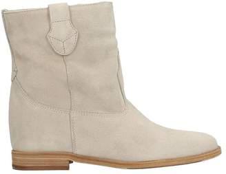 Julie Dee Wedge Sand Suede Boots