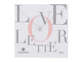 Dogeared Love Letter Initial Necklace