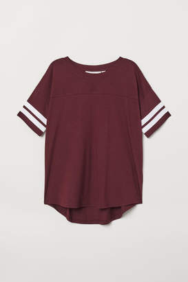 H&M T-shirt with Stripes - Red