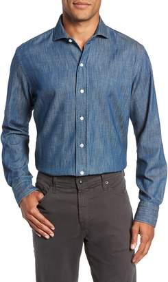 Ledbury Greydon Trim Fit Denim Dress Shirt