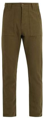 The lost explorer The Lost Explorer - Fatigue Cotton And Wool Blend Trousers - Mens - Green
