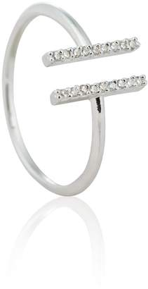 Astrid & Miyu - Chase Me Double Bar Ring in Silver