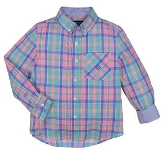 Andy & Evan Easter Plaid Woven Shirt