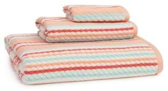 ADI Provence Stripe 3 Piece Towel Set in Coral