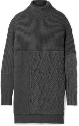 McQ Oversized Knitted Turtleneck Sweater - Dark gray