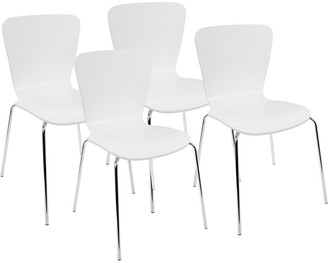 Lumisource Set Of 4 Woodstacker Dining Chairs