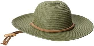 San Diego Hat Company Women's Large Brim Chin Cord Paper Braid Floppy